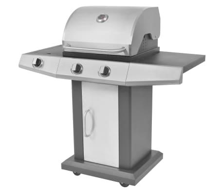 vidaxl gasgrill grill 2 1 brenner schwarz und silber g nstig kaufen. Black Bedroom Furniture Sets. Home Design Ideas