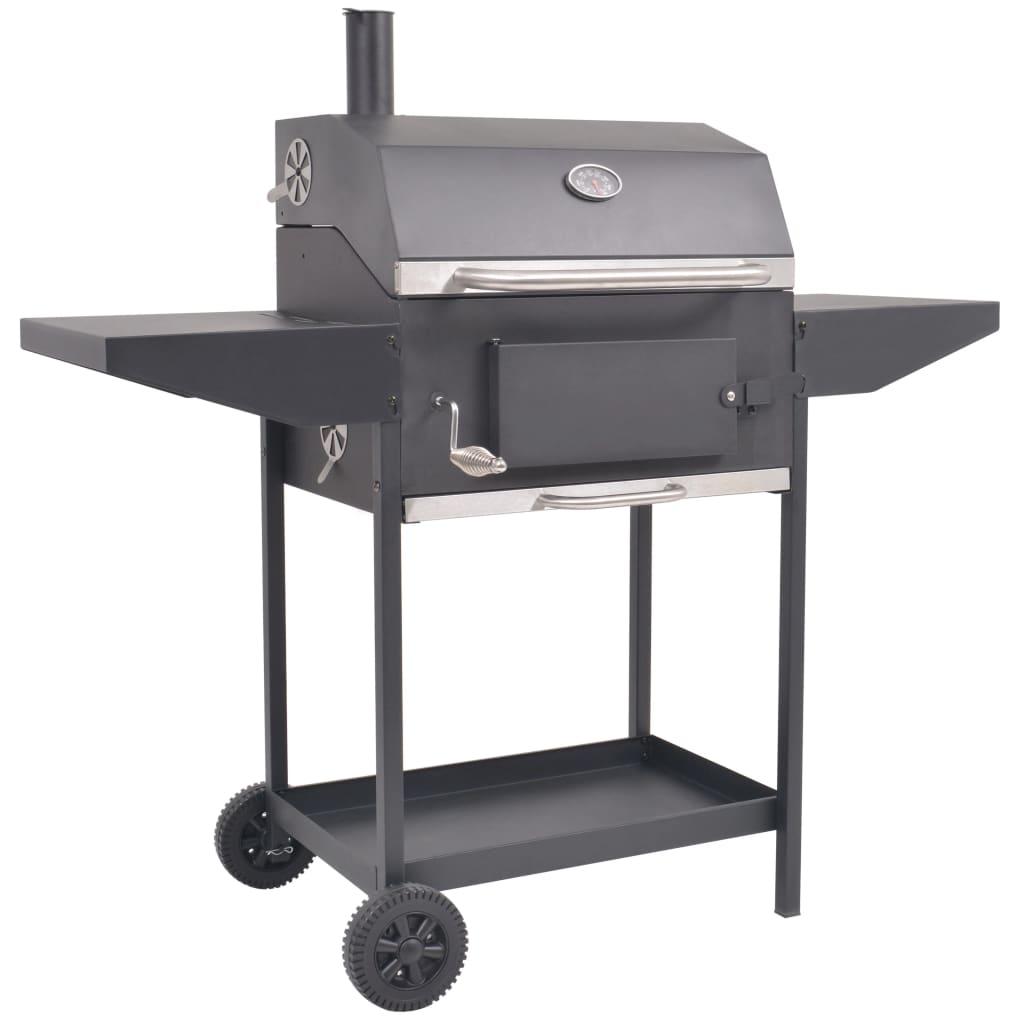Za pomocą tego wytrzymałego grilla węglowego, który składa się z 1 dużej komory do gotowania i solidnego paleniska, możesz w wygodny sposób grillować i wędzić mięso, ryby oraz warzywa.