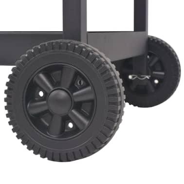 vidaXL Barbacoa Ahumador al carbón con estante inferior negro[6/6]