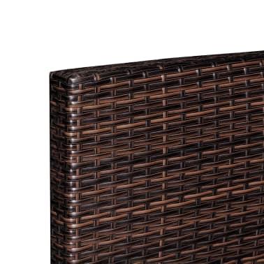 vidaXL dārza dīvānu komplekts, 37 gab., brūns PE rotangpalmas pinums[4/5]