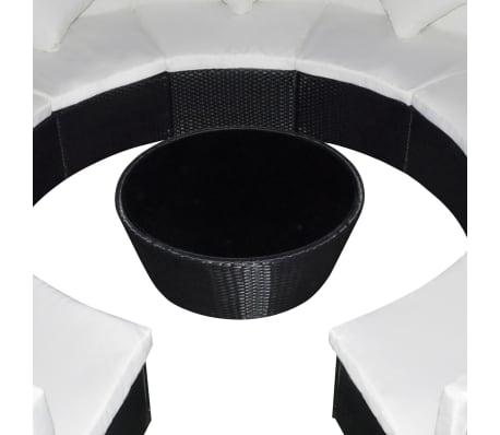 vidaXL dārza dīvānu komplekts, 37 gab., melns PE rotangpalmas pinums[4/6]