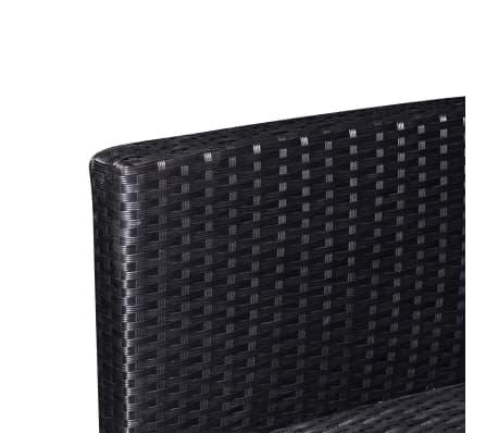 vidaXL dārza dīvānu komplekts, 37 gab., melns PE rotangpalmas pinums[5/6]