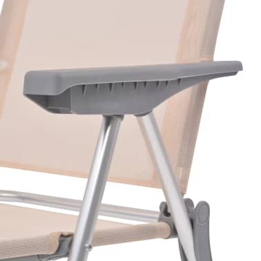 "vidaXL Camping Chairs 4 pcs Cream Aluminum 22""x23.6""x44.1""[7/8]"
