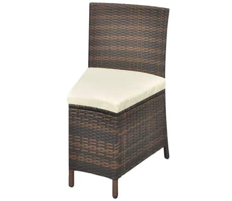 vidaxl garten essgruppe 13 tlg poly rattan 12 personen rund braun zum schn ppchenpreis. Black Bedroom Furniture Sets. Home Design Ideas
