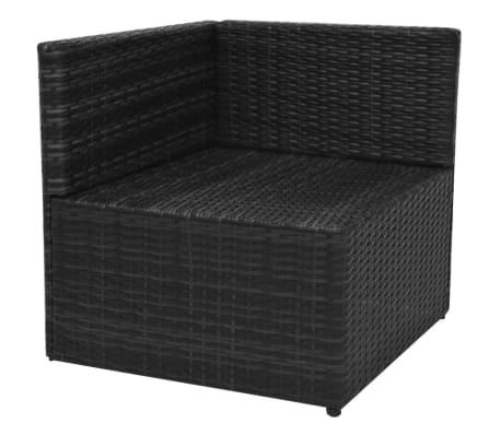vidaXL 5-tlg. Garten-Lounge-Set mit Auflagen Poly Rattan Schwarz[8/13]