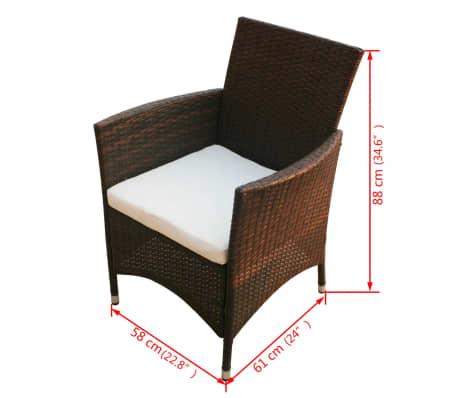 vidaxl garten essgruppe 17 tlg poly rattan braun g nstig kaufen. Black Bedroom Furniture Sets. Home Design Ideas