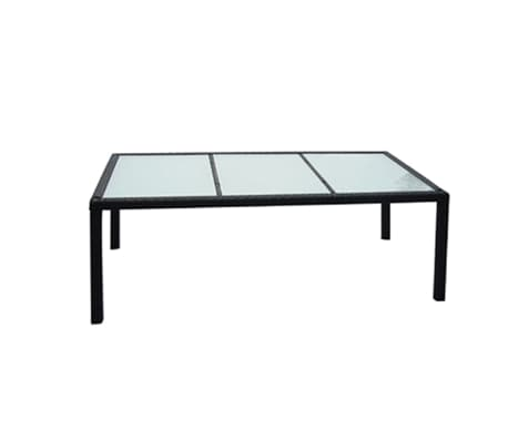 vidaxl garten essgruppe 17 tlg poly rattan schwarz g nstig kaufen. Black Bedroom Furniture Sets. Home Design Ideas