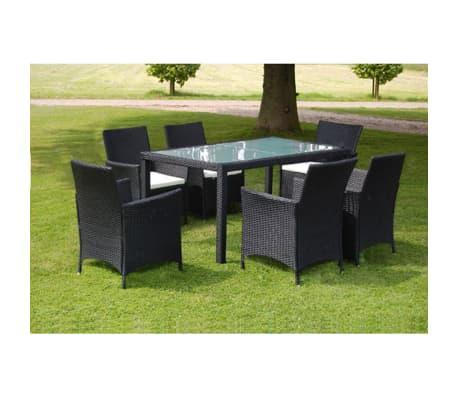 vidaxl garten essgruppe 13 tlg poly rattan schwarz zum schn ppchenpreis. Black Bedroom Furniture Sets. Home Design Ideas