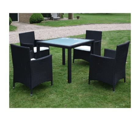 vidaxl garten essgruppe 9 tlg poly rattan schwarz g nstig kaufen. Black Bedroom Furniture Sets. Home Design Ideas