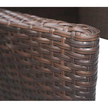 vidaXL Garden Chairs 2 pcs Brown Poly Rattan[4/5]