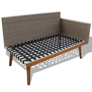 vidaXL 4 Piece Garden Lounge Set with Cushions Poly Rattan Gray[5/8]
