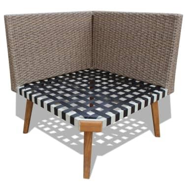 vidaXL 4 Piece Garden Lounge Set with Cushions Poly Rattan Gray[7/8]