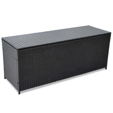 vidaXL Garden-Auflagenbox Schwarz 150×50×60 cm Poly Rattan[1/5]