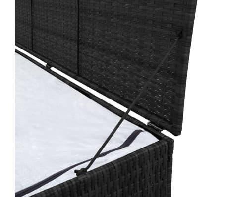 vidaXL Garden-Auflagenbox Schwarz 150×50×60 cm Poly Rattan[3/5]