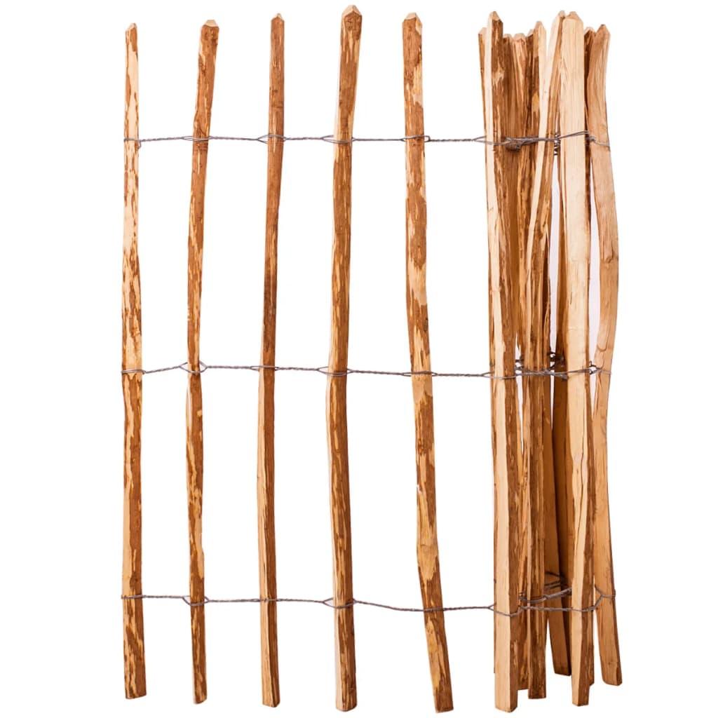 vidaXL Gard din șipci, 120 x 250 cm, lemn de alun poza vidaxl.ro
