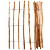 vidaXL Lazdyno medienos kuoliukų tvora, 120x250 cm