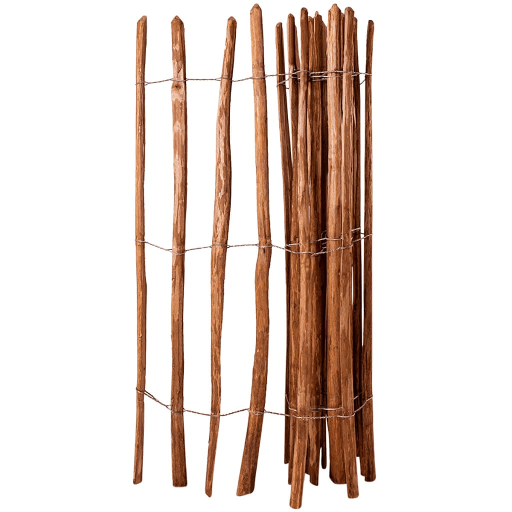 vidaXL Gard din șipci, 150 x 250 cm, lemn de alun imagine vidaxl.ro