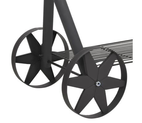 vidaXL BBQ Charcoal Smoker with Bottom Shelf Black Heavy XXL[5/9]