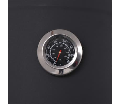 vidaXL BBQ Charcoal Smoker with Bottom Shelf Black Heavy XXL[7/9]