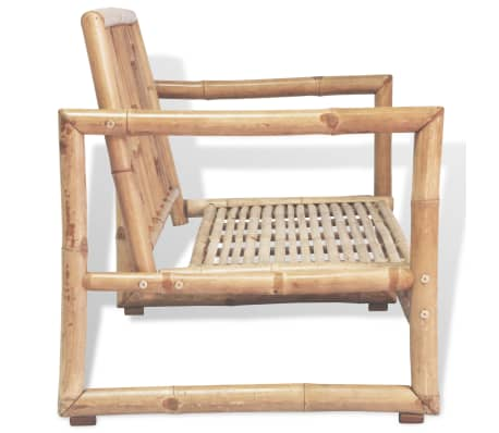 vidaXL 2-osobowa sofa ogrodowa z poduszkami, bambus[5/7]