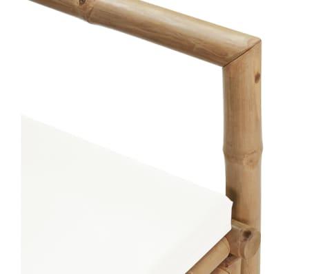 vidaXL Canapé de jardin à 2 places avec coussins Bambou[7/7]