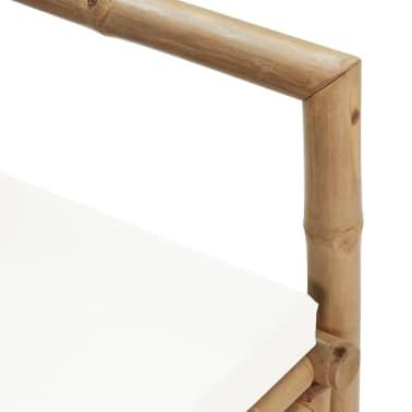 vidaXL 2-osobowa sofa ogrodowa z poduszkami, bambus[7/7]