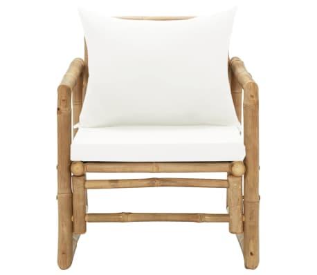 vidaXL Zahradní židle 2 ks s poduškami a polštáři bambus[3/6]