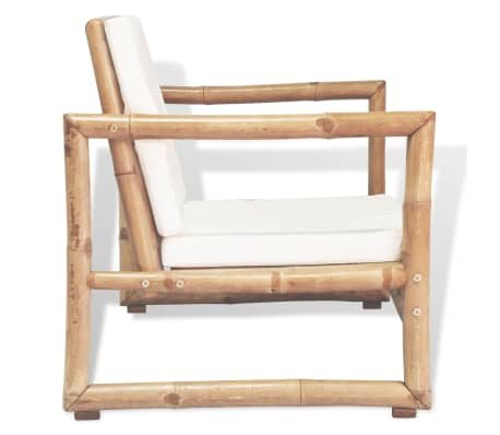 vidaXL Zahradní židle 2 ks s poduškami a polštáři bambus[4/6]
