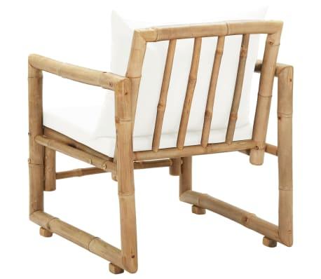 vidaXL Trädgårdsstolar 2 st med dynor bambu[5/6]