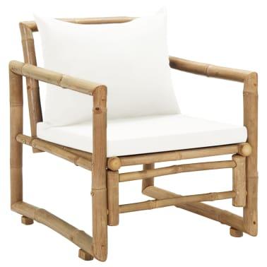 vidaXL Vrtne stolice 2 kom s jastucima bambus[2/6]