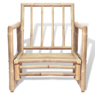 vidaXL Vrtne stolice 2 kom s jastucima bambus[3/6]