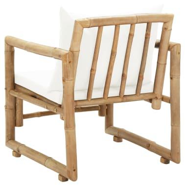 vidaXL Zahradní židle 2 ks s poduškami a polštáři bambus[5/6]