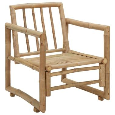vidaXL Zahradní židle 2 ks s poduškami a polštáři bambus[6/6]