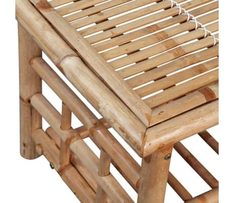 vidaXL 4-részes bambusz kerti bútorszett párnákkal[11/15]
