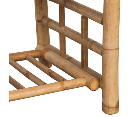 vidaXL 4-részes bambusz kerti bútorszett párnákkal[12/15]