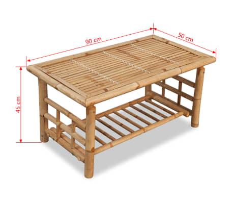 vidaXL 4-részes bambusz kerti bútorszett párnákkal[13/15]