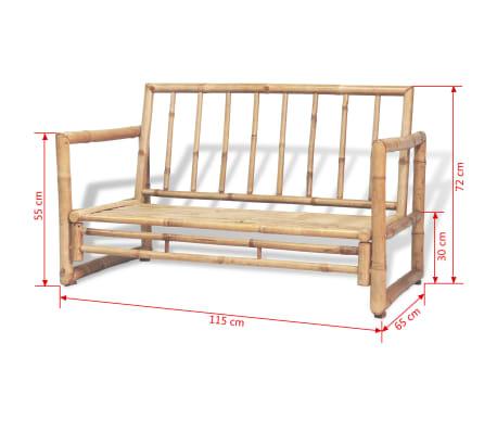 vidaXL Vrtna sedežna garnitura z blazinami 4-delna bambus[14/15]
