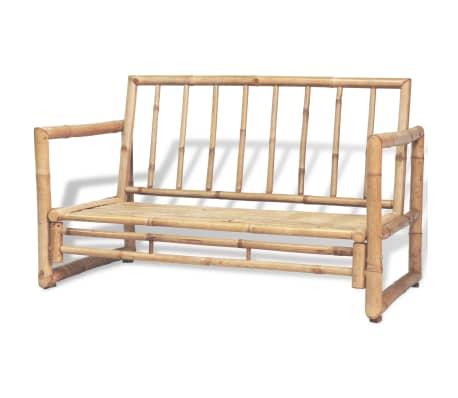 vidaXL Vrtna sedežna garnitura z blazinami 4-delna bambus[4/15]