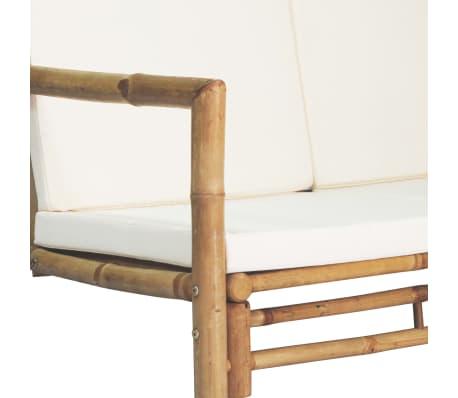 vidaXL Vrtna sedežna garnitura z blazinami 4-delna bambus[5/15]