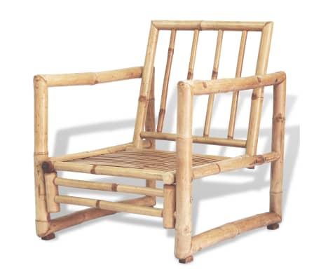 vidaXL 4-részes bambusz kerti bútorszett párnákkal[7/15]