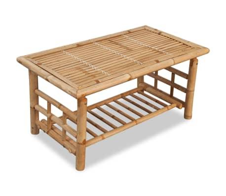 vidaXL Vrtna sedežna garnitura z blazinami 4-delna bambus[9/15]