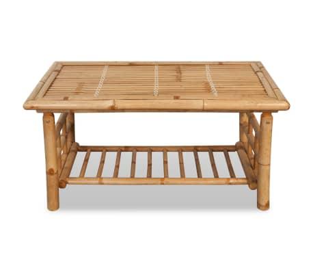 vidaXL 4-részes bambusz kerti bútorszett párnákkal[10/15]