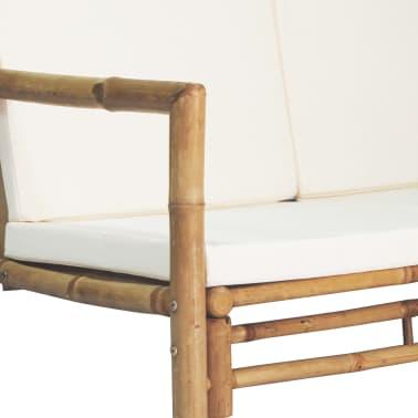 vidaXL 4-részes bambusz kerti bútorszett párnákkal[5/15]