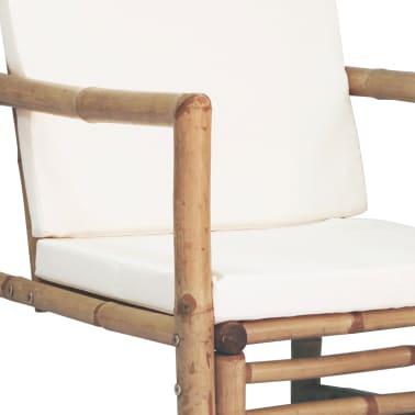 vidaXL 4-részes bambusz kerti bútorszett párnákkal[8/15]
