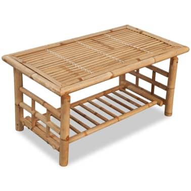 vidaXL 4-részes bambusz kerti bútorszett párnákkal[9/15]