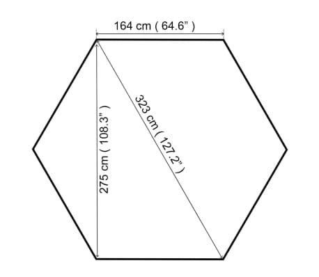 Acheter vidaXL Chapiteau tente de jardin Hexagonal Beige 323 x 265 ...
