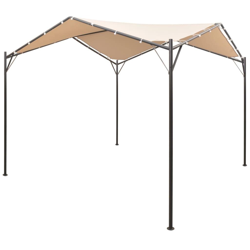 vidaXL Pavilion foișor cort cu baldachin, 4x4 m, oțel, bej vidaxl.ro