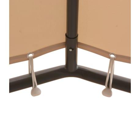 vidaXL Chapiteau tente 4 x 4 m Beige Acier[3/8]