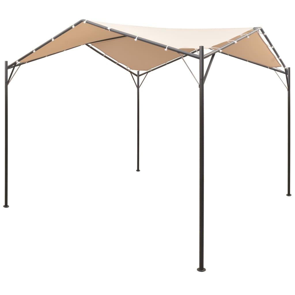 pavillon partyzelt gartenzelt berdachung 3x3 4x4 wasserdicht sonnenschutz beige ebay. Black Bedroom Furniture Sets. Home Design Ideas