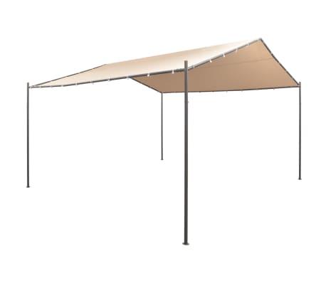 vidaXL Pavilion foișor cort baldachin, 4 x 4 m, oțel, bej